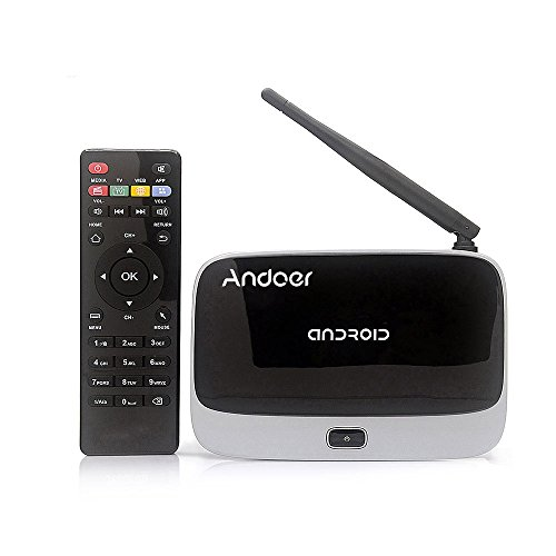 Andoer®CS918 Android 4.4 TV Box Player Quad Core 2 GB / 16GB XBMC WiFi 1080P mit Fernbedienung EU-Stecker