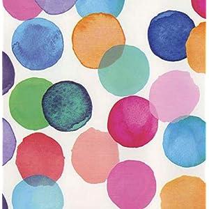 Klebefolie - Möbelfolie Julia bunte Punkte DOTS 45 cm x 200 cm Dekorfolie Selbstklebende Folie mit modernen bunten Dekor - Selbstklebefolie