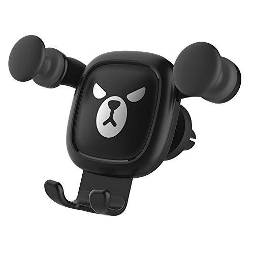 Webla Schwarz Luftauslass Cartoon Ausdruck Auto Halterung Anti-Slip 360 Grad Autotelefonhalter Halterung Air Vent Fahrzeug Halterung Wiege Halter (Schwarz) - Auto-ausdrücke Vent