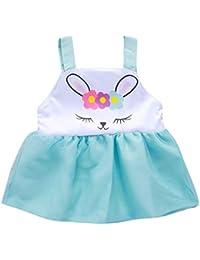 133c19f4b OPAKY Ropa de Vestir con Estampado de Conejito del Día de Pascua del  Chaleco sin Mangas para Bebés de Niñas Pequeños Ropa Recien…