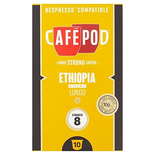 Get CafePod Origins Ethiopia Nespresso Compatible Capsules 10 per pack from CafePod