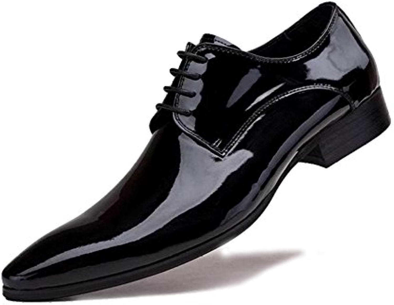 MERRYHE Spitz Toe Derby Echtleder Mens Brogues Klassischen Stil Formale Schuhe Lace Up Glatt Zehen Für Abend Arbeit