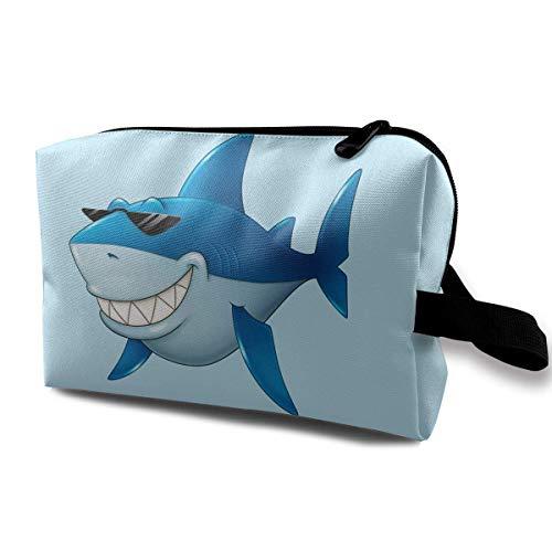 Hai Sonnenbrille Reisen Make-up Tasche Kosmetiktasche Reißverschluss