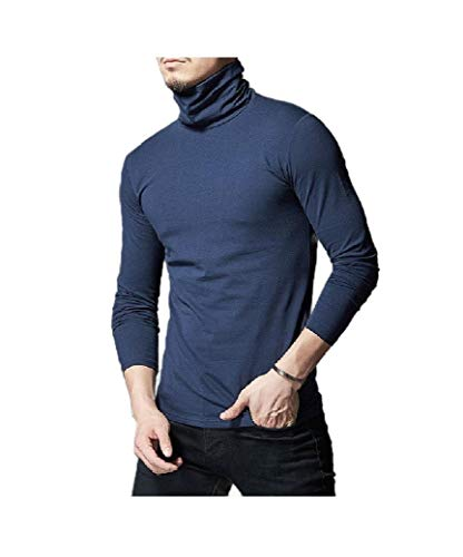 VITryst Men's Stretch Long-Sleeve Mock Neck Top Shirt AS6 XL -
