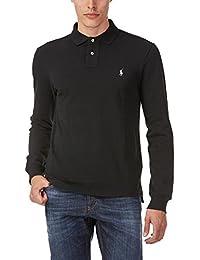 Ralph Lauren Herren Poloshirt Slim Fit Schwarz LSL-KNT Langarm Longsleeve  100% Baumwolle ba8eb4c1b5