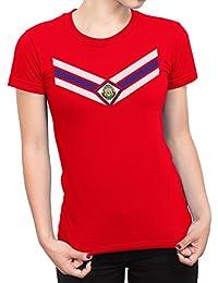 De Las Mujeres Costa Rica Team Emblem Señoras Fútbol Camiseta Copa del mundo2018 ...