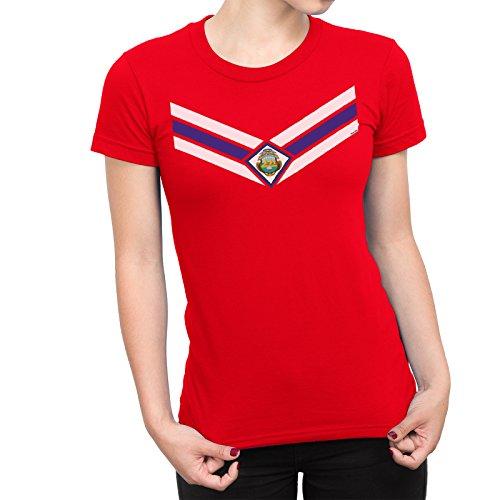 De Las Mujeres Costa Rica Team Emblem Señoras Fútbol Camiseta Copa del  mundo2018 Retro Sports 7efa1ffadb18c