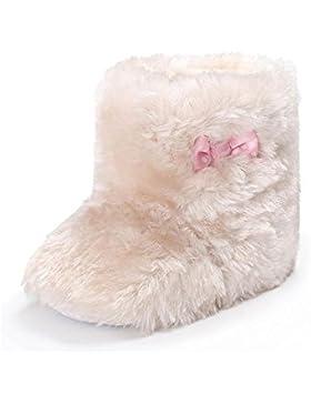 ❆HUHU833 Kinder Mode Baby Stiefel Soft Sole, Keep Warm Bowknot Flauschige Samt Schuhe Schnee Stiefel, Soft Crib...