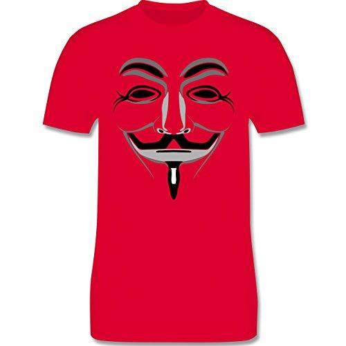 Nerds & Geeks - Anonymous Maske - Herren Premium T-Shirt Rot