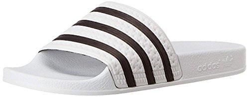 adidas Originals Unisex-Erwachsene Adilette M Slipper Weiß Synthetik Badeschuhe (42 EU, Weiß (White/Core Black))