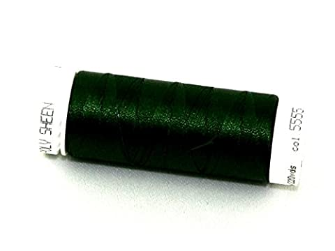 Mettler Polysheen Polyester Machine Embroidery Thread 200m 200m 5555 Deep Green - per spool