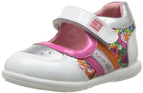Agatha Ruiz de la Prada - Sneaker 142915, Bimba, Bianco (Weiß (Blanco y plata)), 22