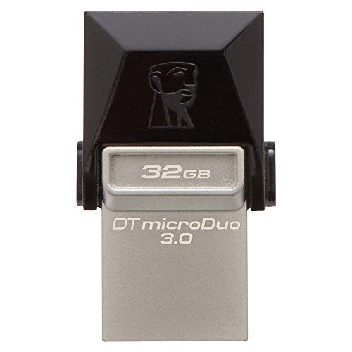 Kingston dtduo3/32gb chiavetta usb 32 gb, usb 3.0, velocità lettura 70 mb/s, velocità scrittura 15 mb/s, nero