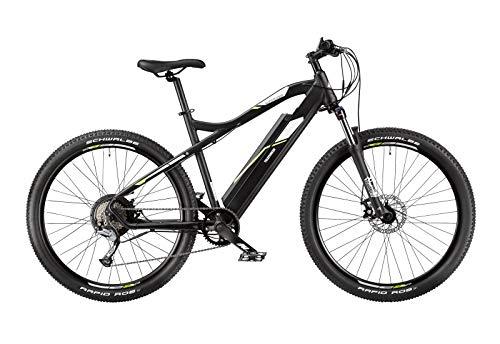 Telefunken E-Bike Mountainbike Elektrofahrrad Alu, 9 Gang Shimano Acera Kettenschaltung - Pedelec MTB 27,5 Zoll, Hinterradmotor 250W, Scheibenbremsen, Aufsteiger M900*