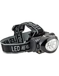 Ultrasport 10 LED Multifunktions Stirnlampe, Kopflampe mit neigbarem Lampenkopf inkl. Batterien