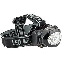 Ultrasport Lampada da fronte multifunzionale con 10 LED, lampada da testa con testina inclinabile incl. batterie