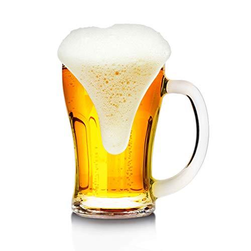 YWARX Klassische Bierkrüge, Bierkrüge/Bierkaraffe für Whisky oder Wein, Bierfestkrug, ideal als Biergeschenk,D500ml
