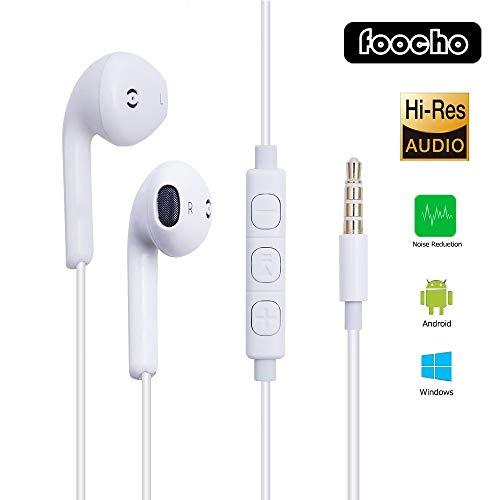 Auricolari con Microfono, in-Ear Cuffie per iPhone/Huawei/Samsung(1Pack)