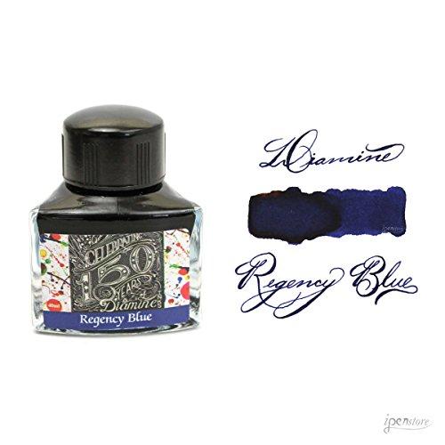 Diamine Ink,150th anniversary ink,Regency Blue,Tinte im Tintenglas,40 ml - Regency Bürobedarf