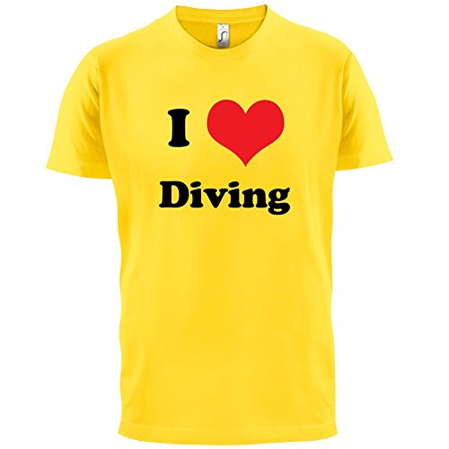 I Love Diving - Herren T-Shirt - 13 Farben Gelb