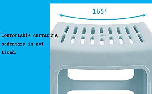 DEED Startseite Stuhl Hocker Klappstuhl-Kunststoff Hocken Stapelhocker, Nesting Hocker, kleine Tritthocker Sitz für Kinder, Bad Anti-Rutsch-Hocker, ideal für Wohnzimmer und Schlafzimmer,Grün,