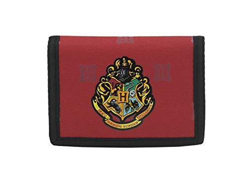Monedero tríptico Harry Potter Hogwarts Crest Licencia