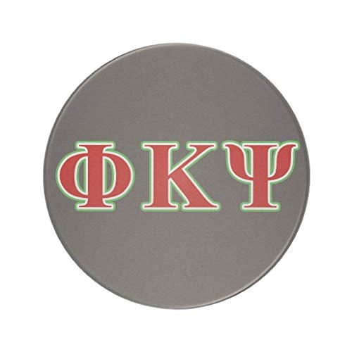 HYYCLS Phi Kappa Psi Red and Green Letters Drink Coaster Green Coaster