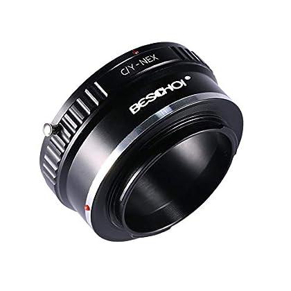 Beschoi - Adaptador de Montura de Objetivo para cámara de Montura E de Sony Alpha NEX, Compatible con Sony Alpha A7, A6000, A6300, A6500 y A5000, A5100, NEX 7, NEX 5