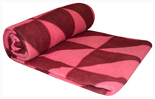 Sleepinns_LOTUS Printed Warm Fleece Double Blanket GSM 125, L W 240x220 cm maroon jaal  available at amazon for Rs.249