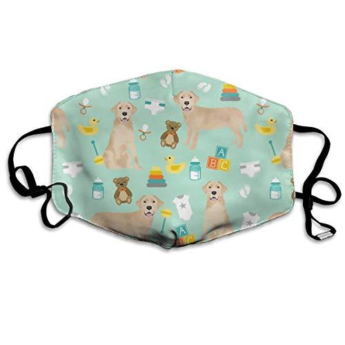 Yellow Lab Baby Anti-Staub-Maske, waschbar, wiederverwendbar, für Hunde, Hunderassen, süße Hunde -