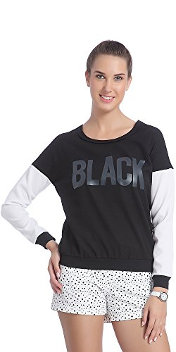 Only Women's Black Colored Casual Sweatshirt