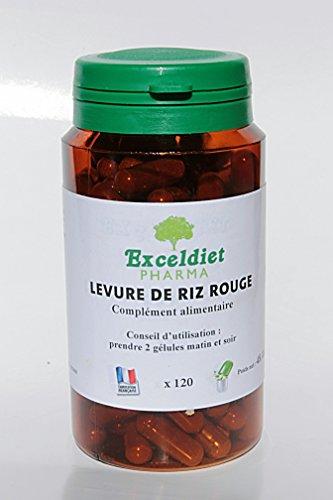 Levure de riz rouge - Favorise le Bon Cholestérol- 240 gélules à la Chlorophylle - Rester en forme avec Exceldiet Pharma