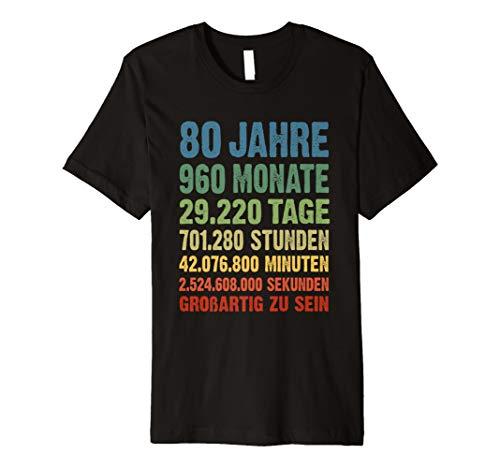 80 Geburtstag T-Shirt 80 Jahre 960 Monate 80th Birthday Gift