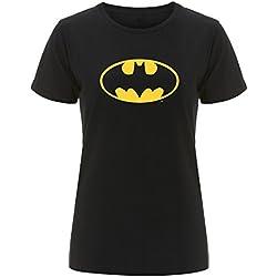 Batman–Camiseta de mujer con el logotipo de Batman negro negro