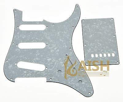 FidgetGear - Golpeador para guitarra SSS y placa trasera compatible con Yamaha PACIFICA de 3 capas, color blanco