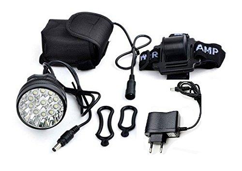Luz delantera Foco frontal para Bici 16000 lumenes Linterna frontal 13x CREE XM-L 13 x T6 LED de bicicleta /bici lampara LED para manillar de bicicletas con batería y cargador