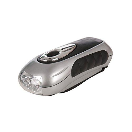 Silverline 839905 Lampe-torche à manivelle