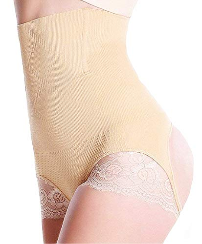 bbcb56f615 HOLYSNOW Women Stomach Shapewear Seamless Bum Lifter Garment Beige M L