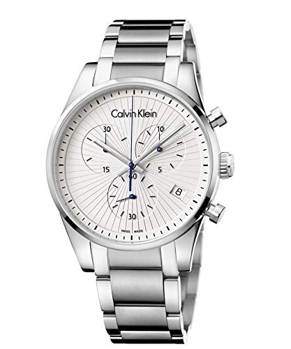 Calvin Klein Reloj Cronógrafo para Hombre de Cuarzo con Correa en Acero Inoxidable K8S27146
