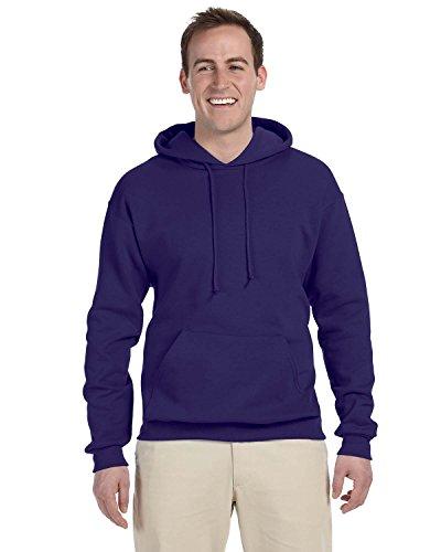 Adult Hooded Fleece (Adult 8 oz. NuBlend� Fleece Pullover Hood DEEP PURPLE M)