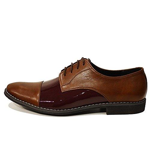 Modello Ernesto - 45 UE - fatti a mano scarpe colorate italiana di cuoio degli uomini unici
