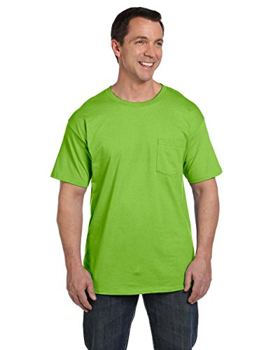 Hanes Mens Beefy-T T-Shirt With Pocket Grün - Grün