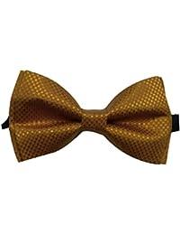 Red Eye Golden Designer Bow Tie For Men
