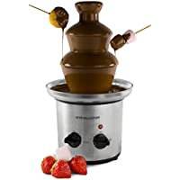 Andrew James Large Chocolate Fountain | Just Under 1 Litre Capacity | 3 Tiers & Extra Deep Drip Tray | Adjustable Motor & Temperature Dial | Great for Kids' Parties and Weddings