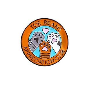 woncacrostrans Unisex Brosche, niedliche Runde Badge Hund Claw Buchstaben bedruckt Emaille Brosche Pin für Kinder