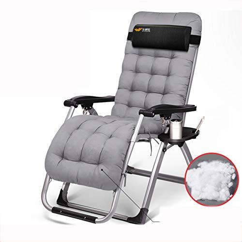 VIVOCC Verstellbar Zero Gravity Chair Chaise, Falten Outdoor Lounge-Sessel Liege Camping schlafsofa Mit becherhalter Beach Terrasse -E 180x65x41cm(71x26x16inch) -