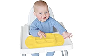 EasyMat Mini Portable Baby Suction Plate (Buttercup)