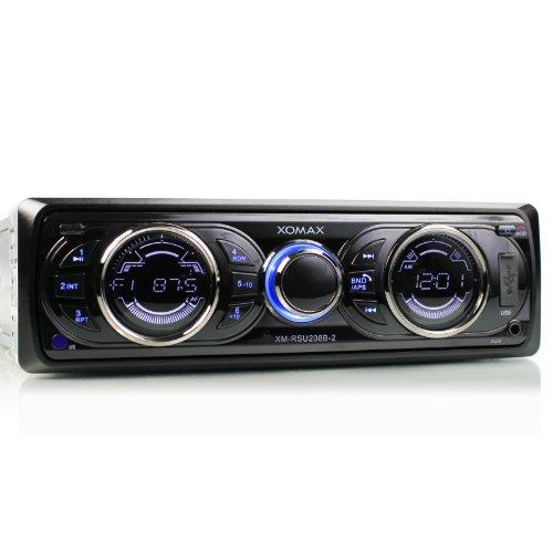 Xomax XM-RSU208B-2 - Radio de coche (con Bluetooth para manos libres y conexión con smartphones y reproductores de MP3, puerto USB, lector de tarjetas SD, reproductor de