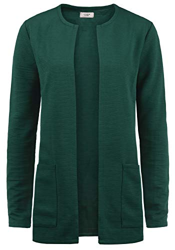 ONLY SWEA Damen Langer Cardigan Jacke Longjacke Mit Offenem V-Ausschnitt, Größe:L, Farbe:Ponderrose Pine
