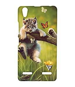 Vogueshell Funny Cat Printed Symmetry PRO Series Hard Back Case for Lenovo A6000